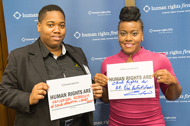 Jamaican Activist Angeline Jackson and Etana share what human rights mean to them.