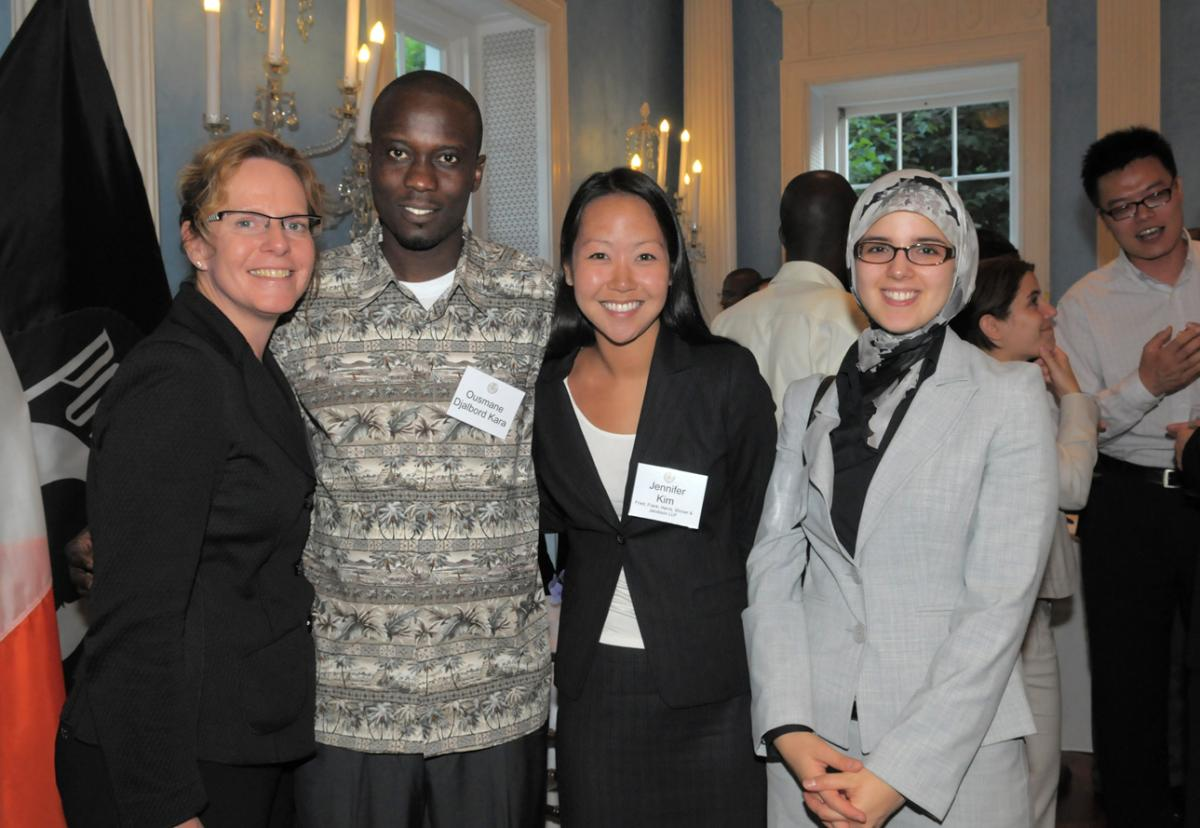 Ousmane Djalbord Kara-2nd from left, Chad -w Jennifer Colyer, Jennifer Kim and Safi Hussain Fried, Frank, Harris, Shriver & Jacobson.jpg.jpeg