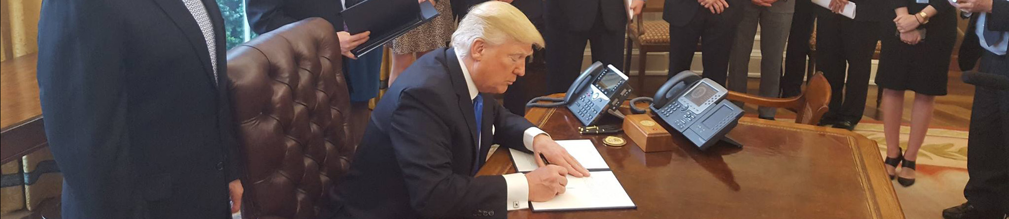 President Donald J. Trump signs Executive Order