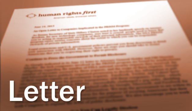 Letter to President Obama Urging him to Address Human Rights in ...