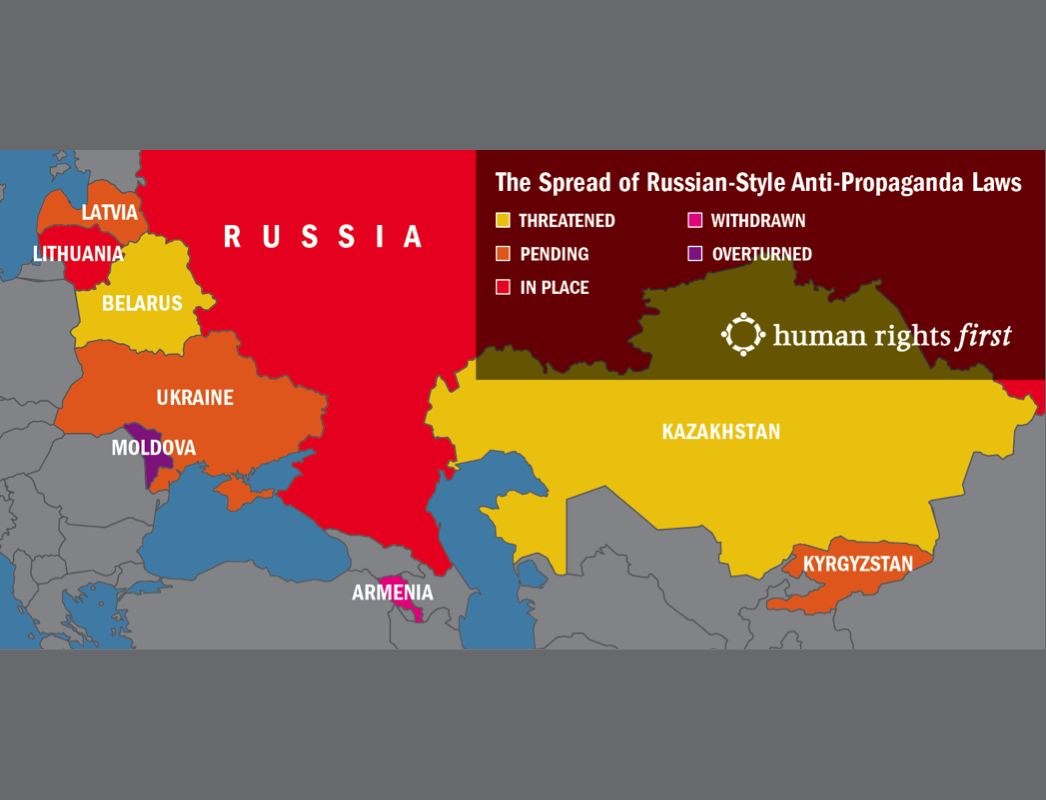 Map of The Spread of Russian-Style Anti-Propaganda Laws
