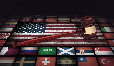 International Flags with Gavel