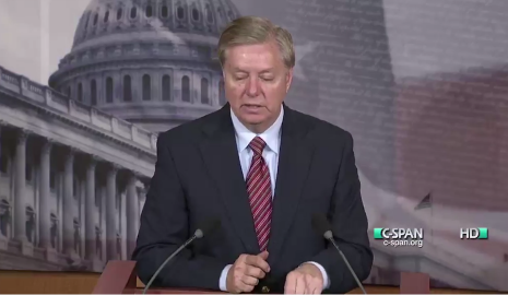 United States Senator Lindsey Graham speaks out against torture