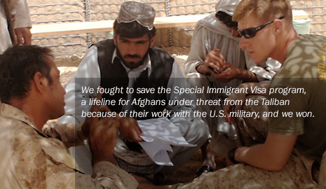 Our soldiers on the ground with local interpreters who risk their lives to help us.