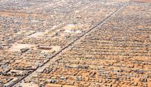 An Aerial View of the Za'atri Refugee Camp, Jordan