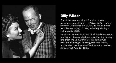 Famous Refugee: Billy Wilder